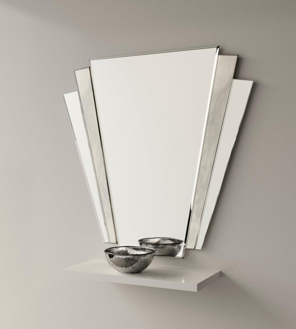 Fan Style Wall Mirror