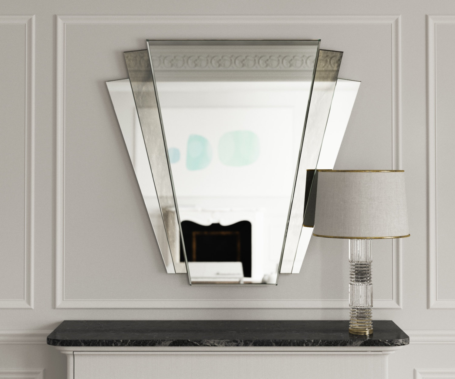 Fan Deco Mirror in Situ. See what's currently available here
