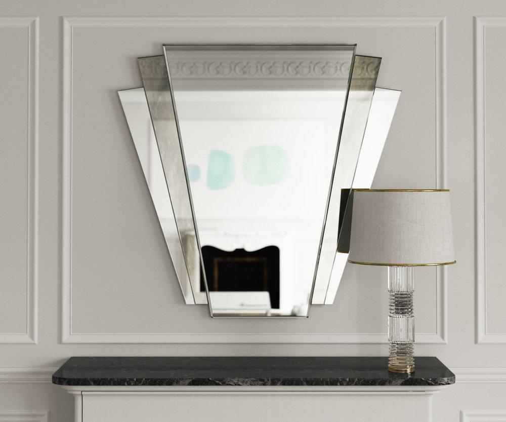 Fan Deco Mirror in Situ