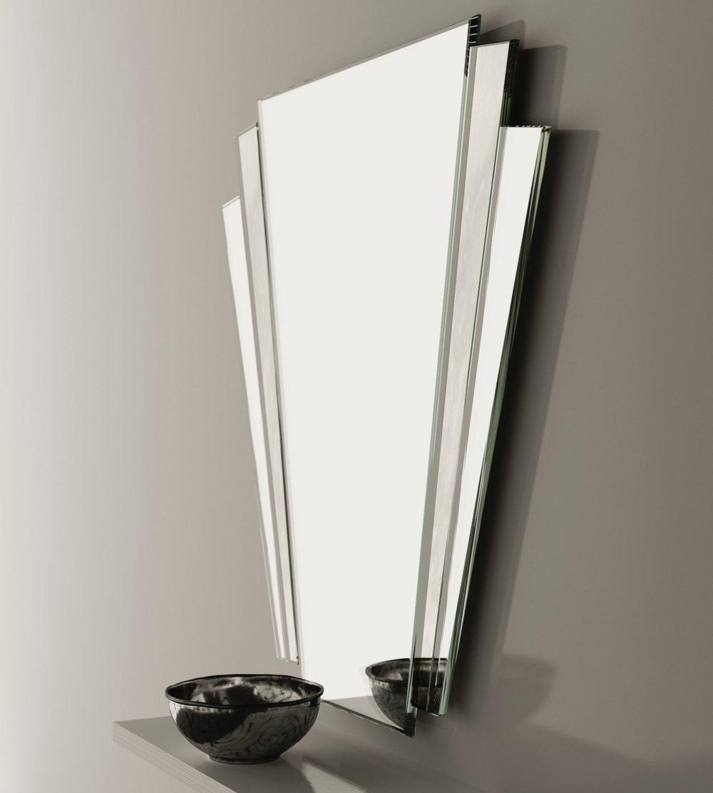 Studio Side View of Art Deco Mirror