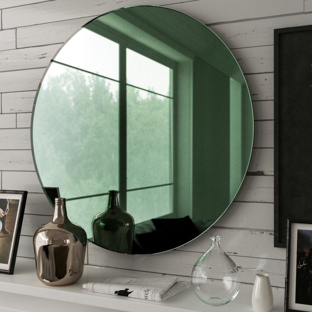 Green Art Deco Style Mirror