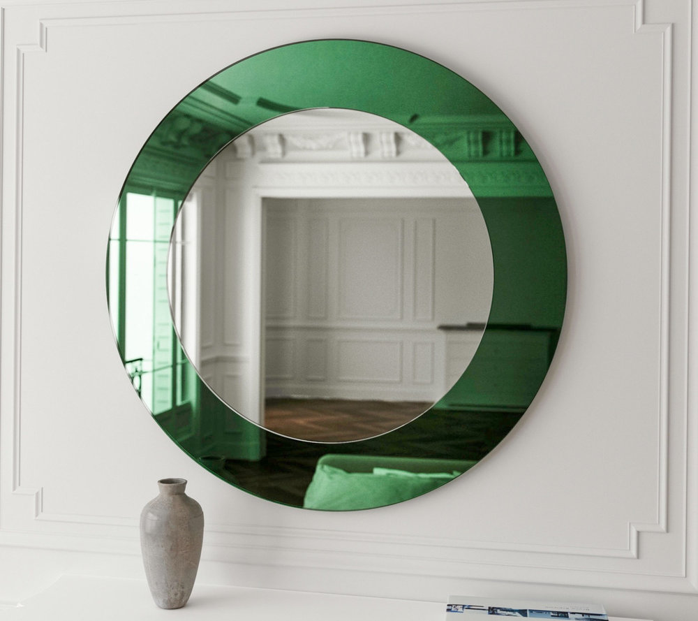 Green Deco Wall Mirror