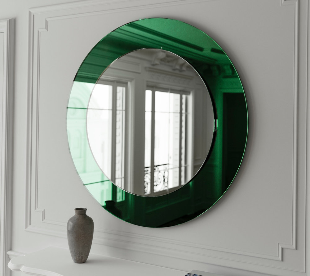 Green Art Deco Mirror