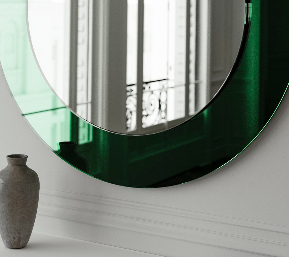 Close up of Green mirror