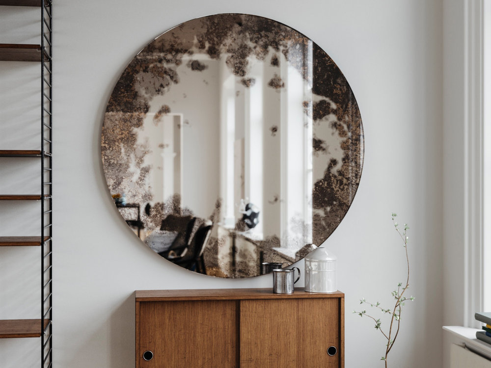 Decorative Wall Mirror in Scandinavian Interior