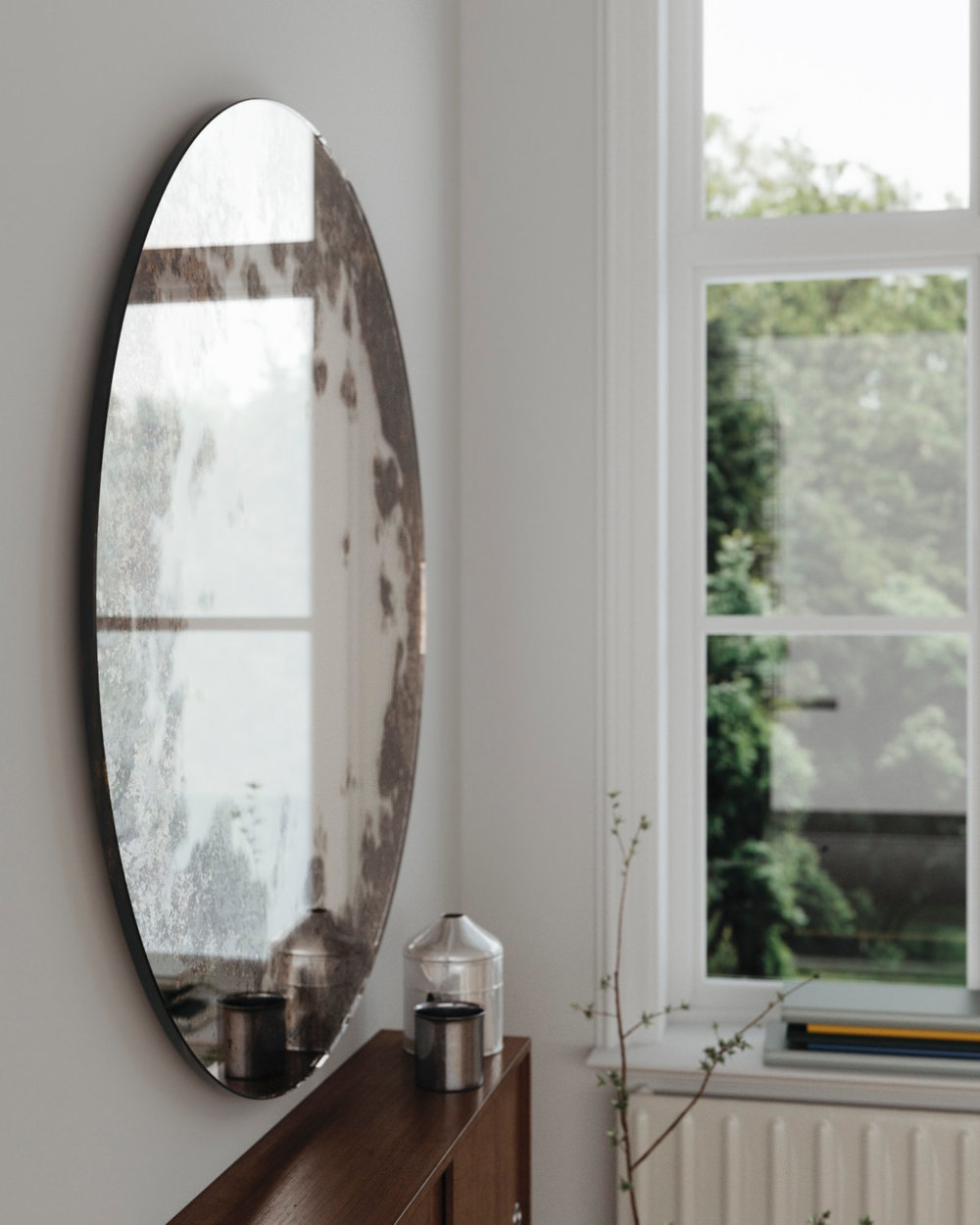 Sideview of Scandinavian Wall Mirror