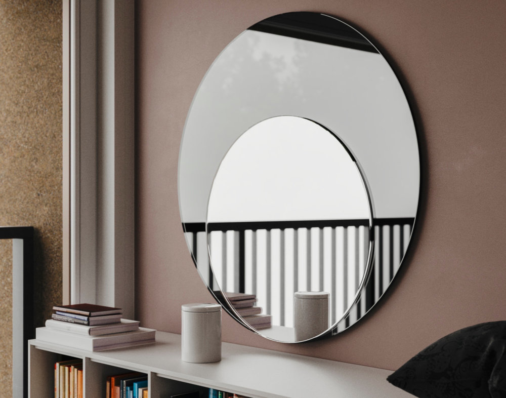 Art Deco Black Mirror