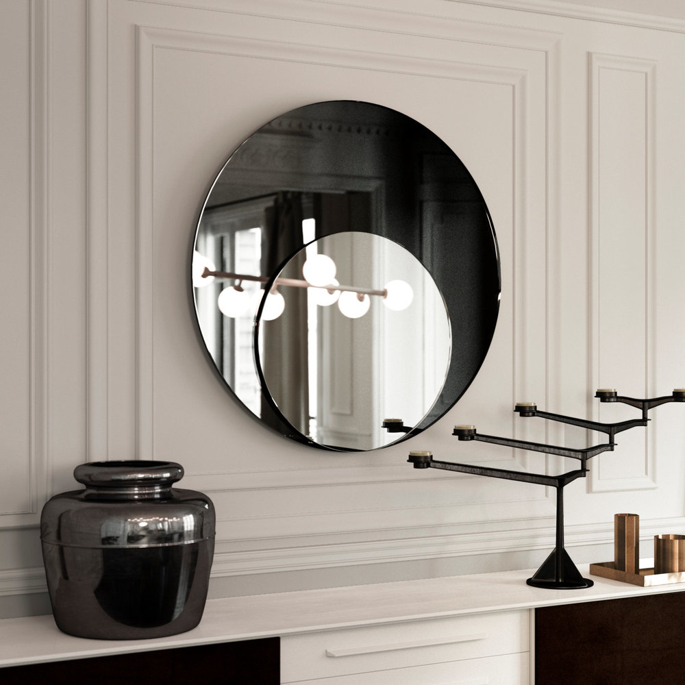 Another photo of the black Art Deco mirror