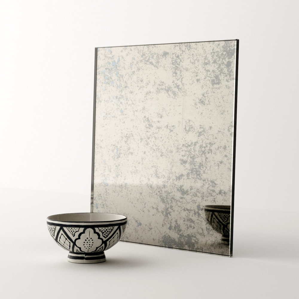 Antiqued mirror swatch