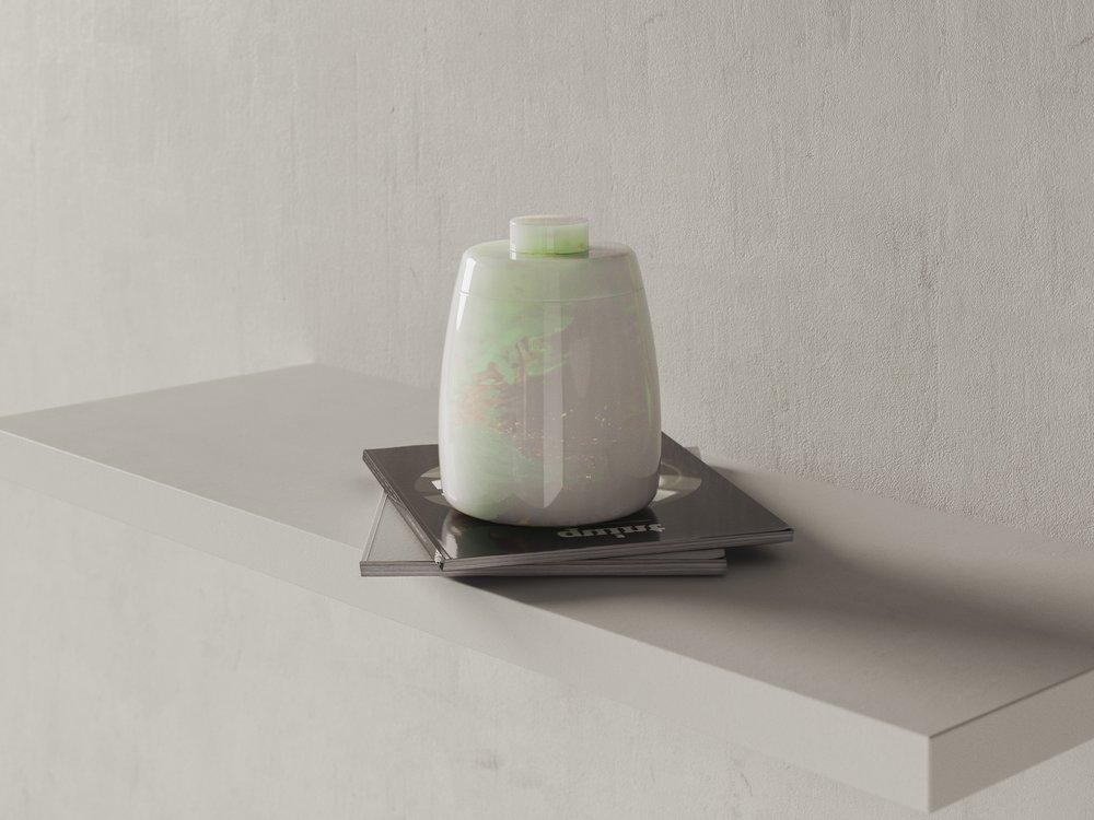Studio Portrait of Ceramic Vase