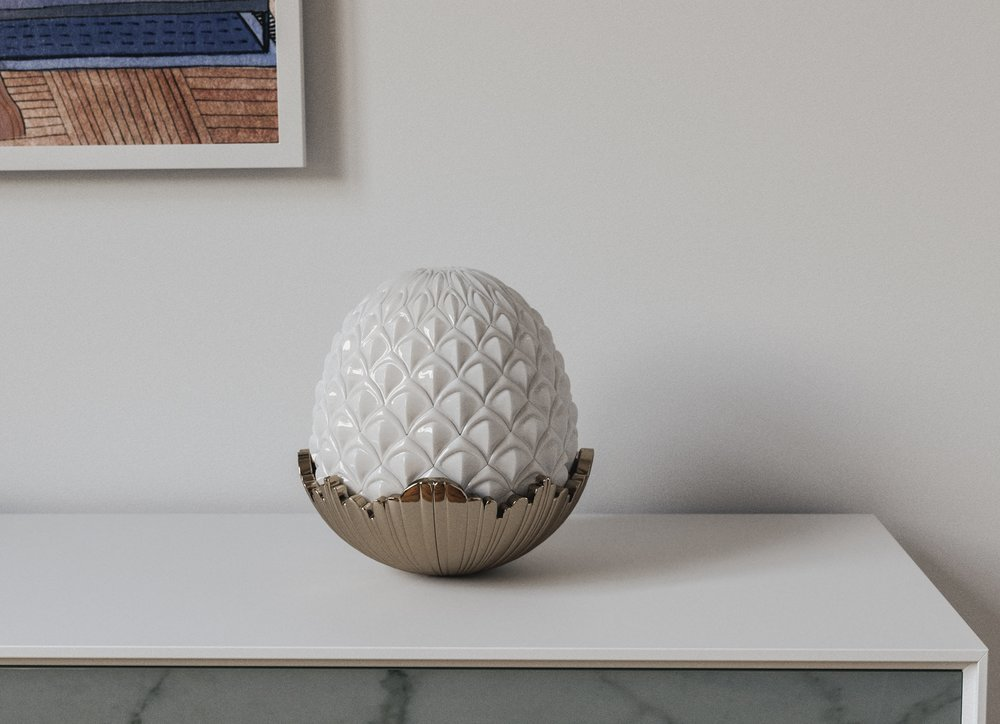MidCentury Pinneapple Ceramic