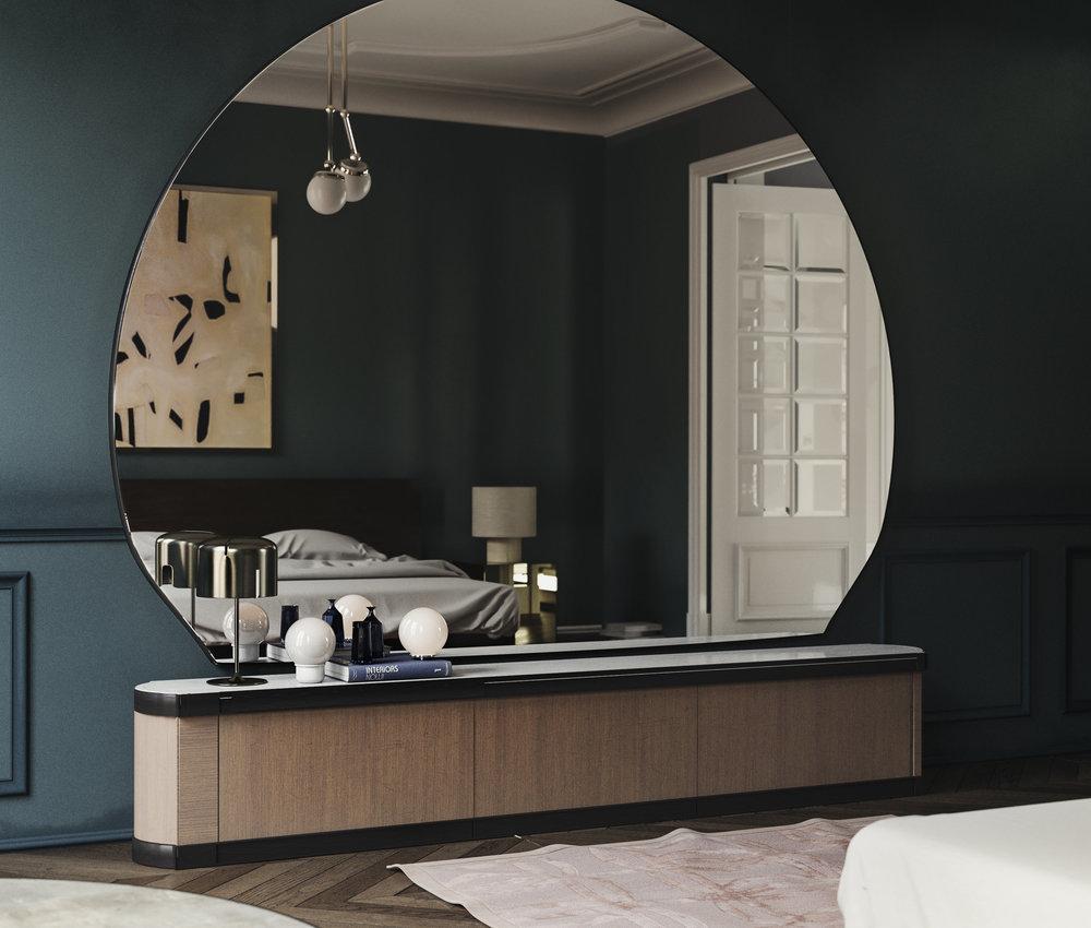full mirror in parisian room