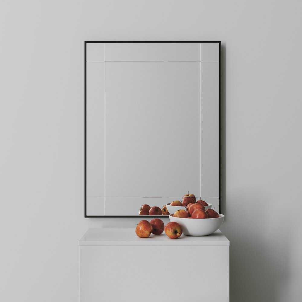 9 Panel Wall Mirror
