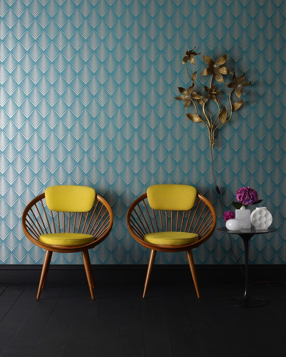 Two mini Papasans with cushions—an updated take on a classic mid-century design