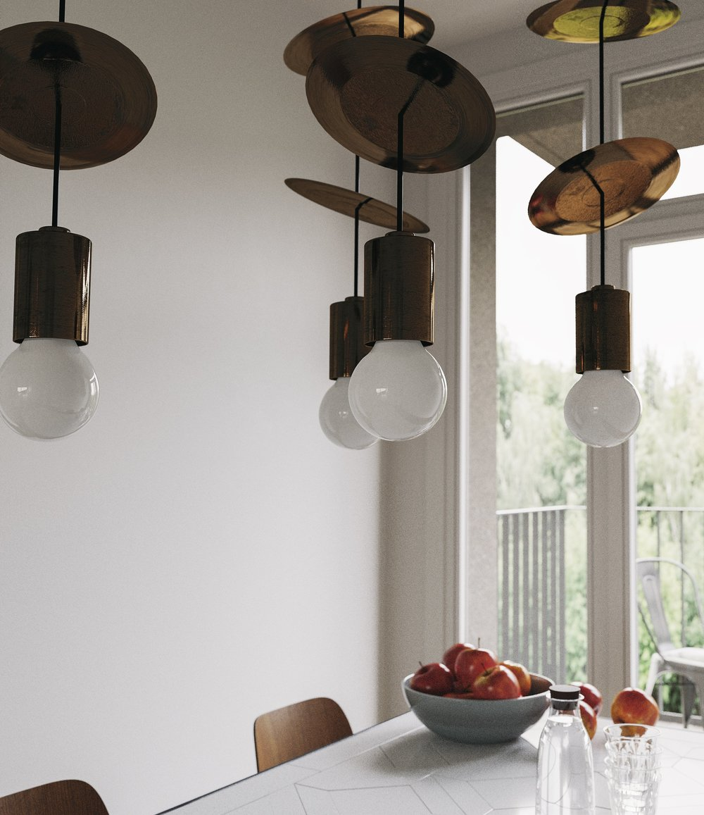 Modern Brass Chandelier in Santa Monica