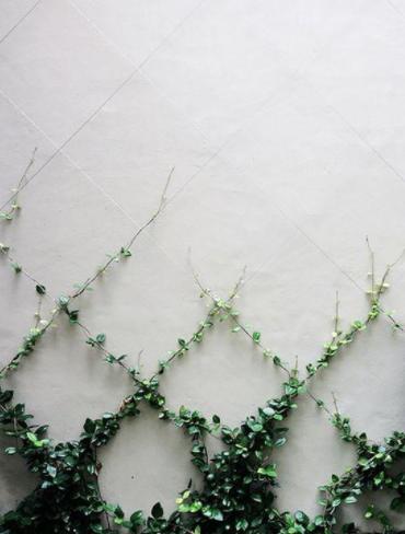 Minimal lattice design made with wire.