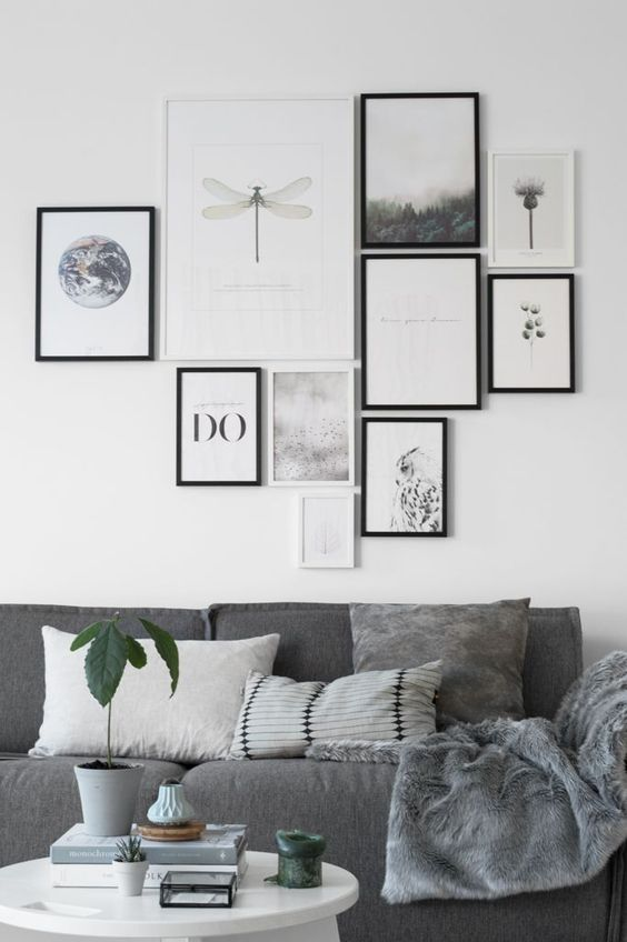 Grey Sofa in Scandinavian Room