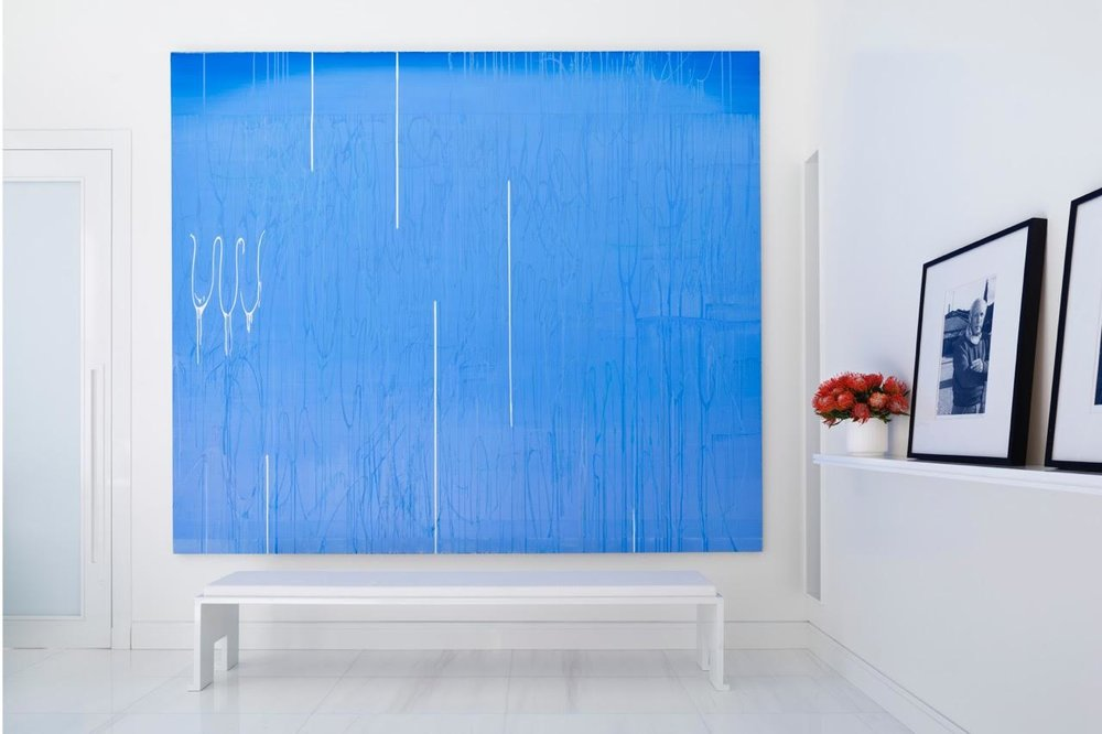 Large Blue piece of Modern Art in NYC Home