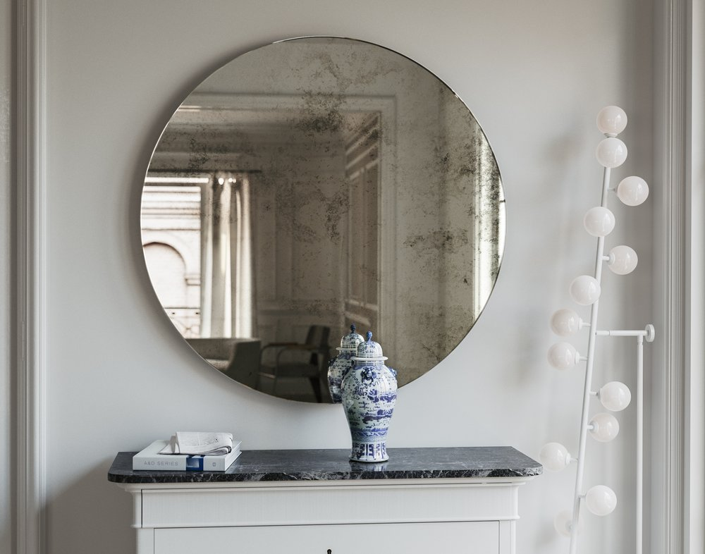 Wall Mirror with Slight Antiqued Finish