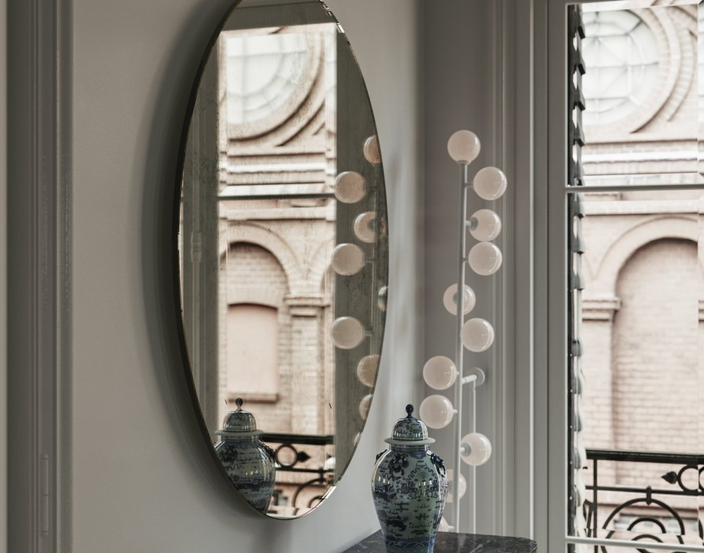 Side view of Antiqued Mirror