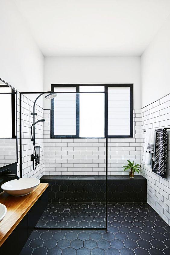 Tile in Scandinavian Bathroom