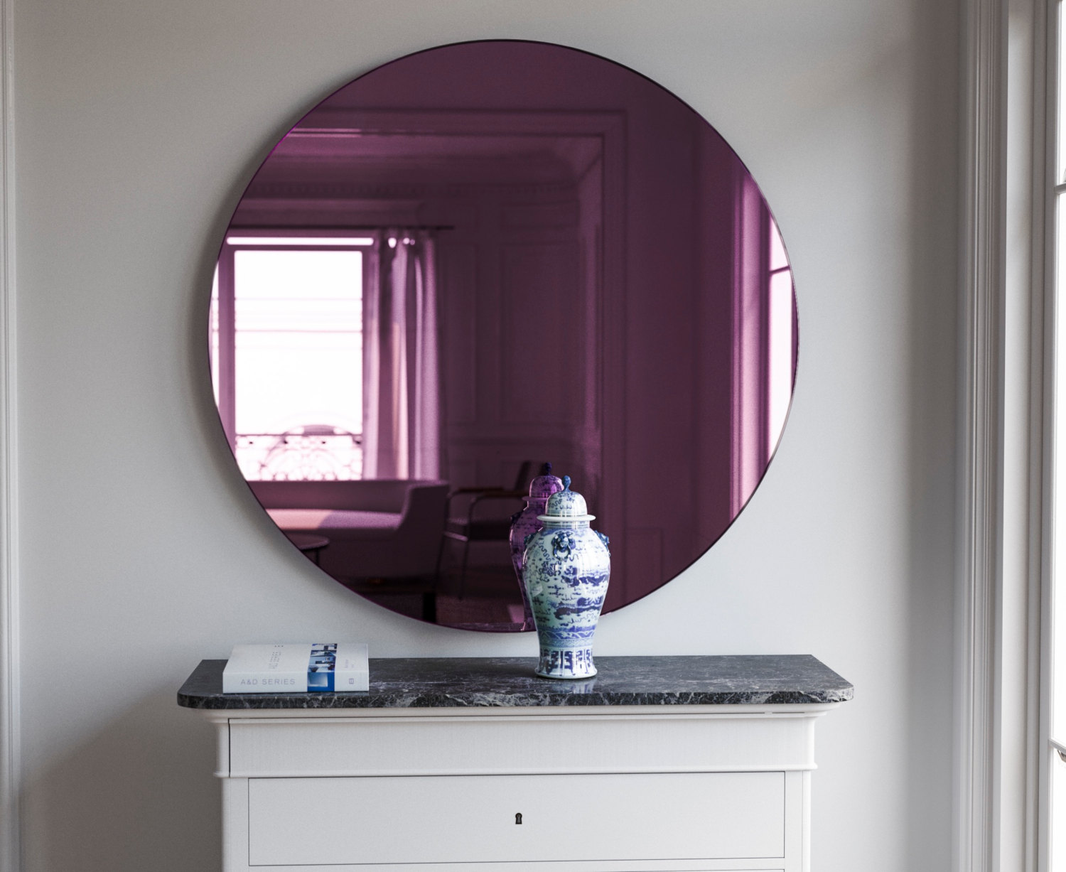 Pink Glass Mirror by MirrorCoop
