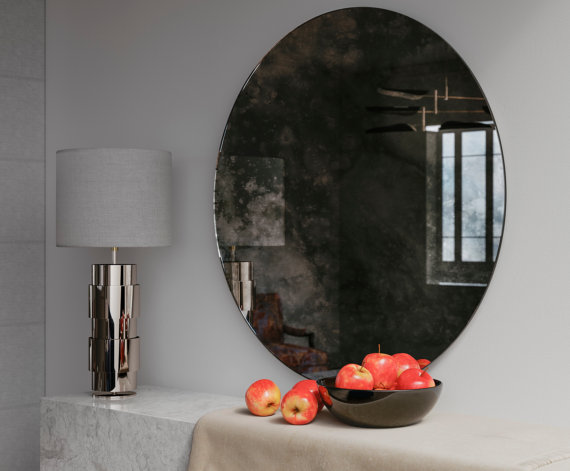 Decorative smoked mirror as seen on out Etsy page