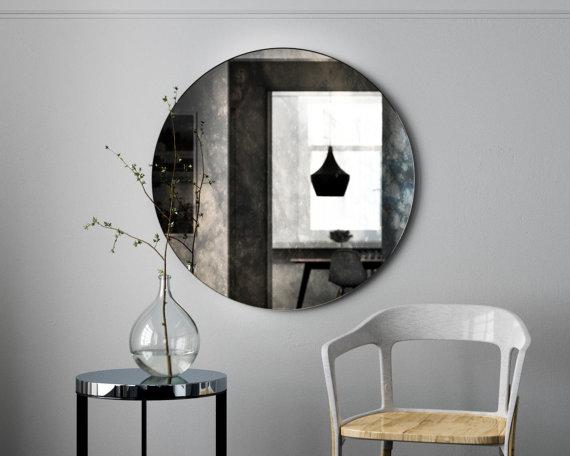 Parisian smoked mirror in minimal environment