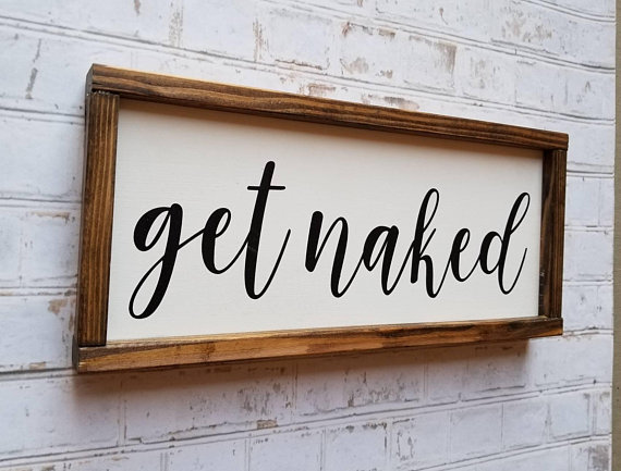 Get Naked Wall Decor from Etsy