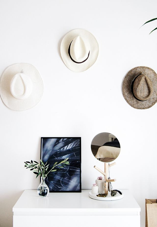 See Hats Bedroom Wall Decor on Pinterest