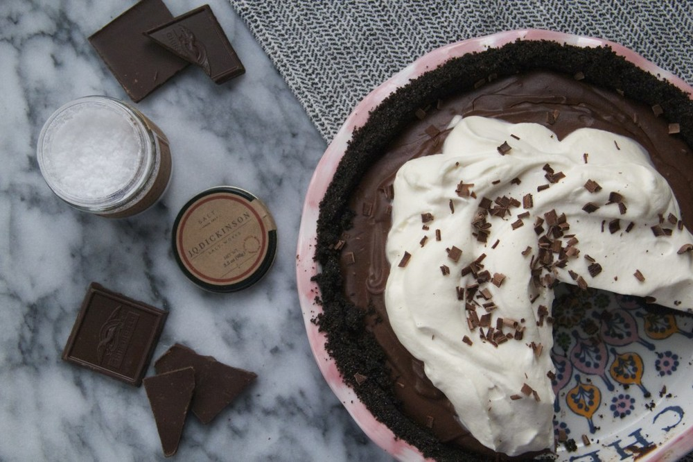 Molly's salty chocolate pie!