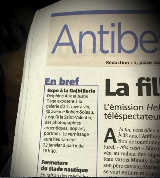 Source: Nice Matin January 20th 2016