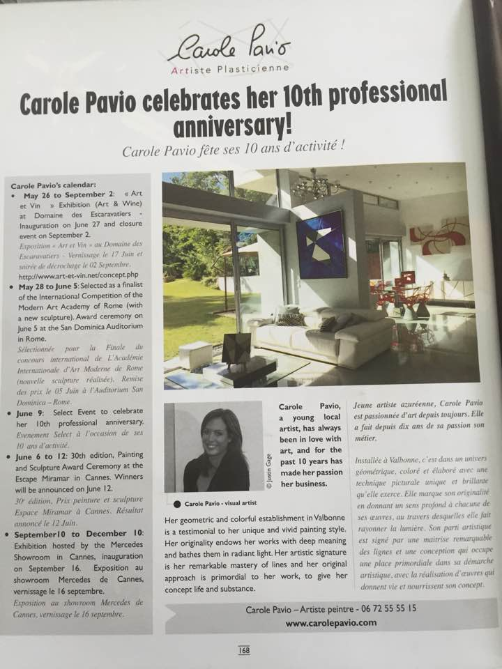 Our portraits of  Carole Pavio  in   Sophia   July 2016