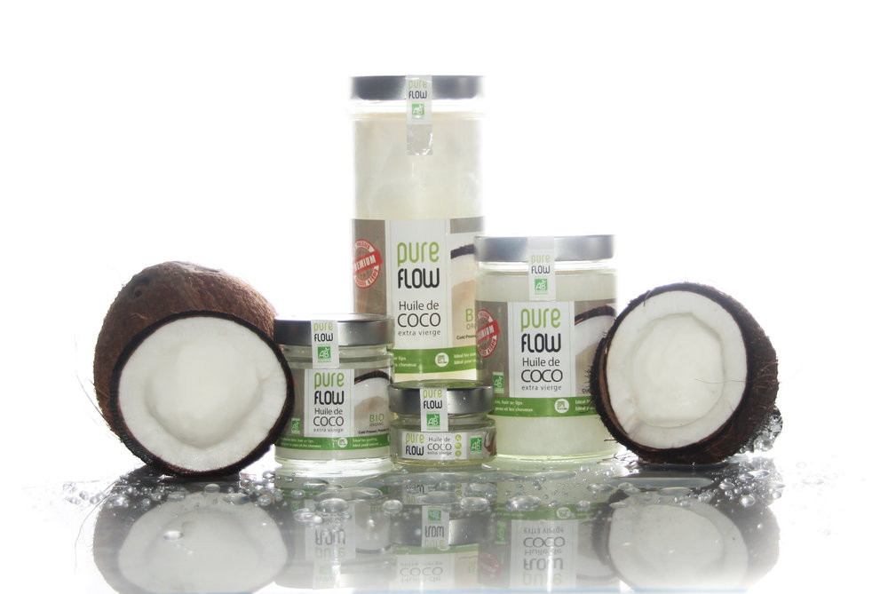 Pure Flow makes different sized containers for coconut oil including a mini one perfect for you purse