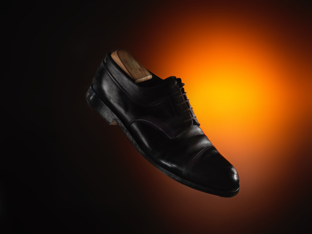 Men's shoes product shoot sample