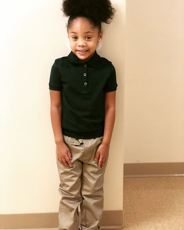 MY BABY STARTED SCHOOL THIS MORNING 😩😍