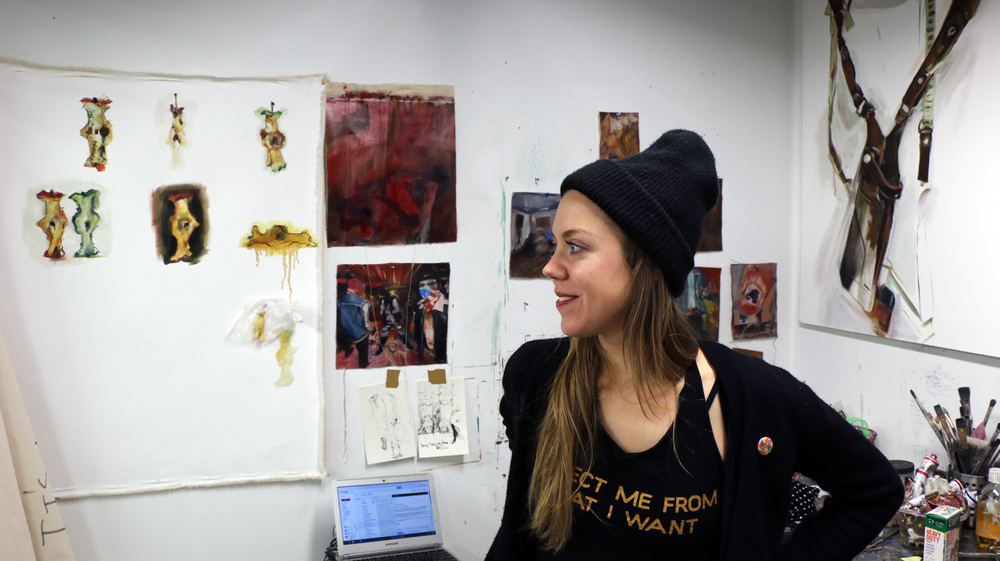 Audrey Ryan in her studio at Gateway Project Spaces