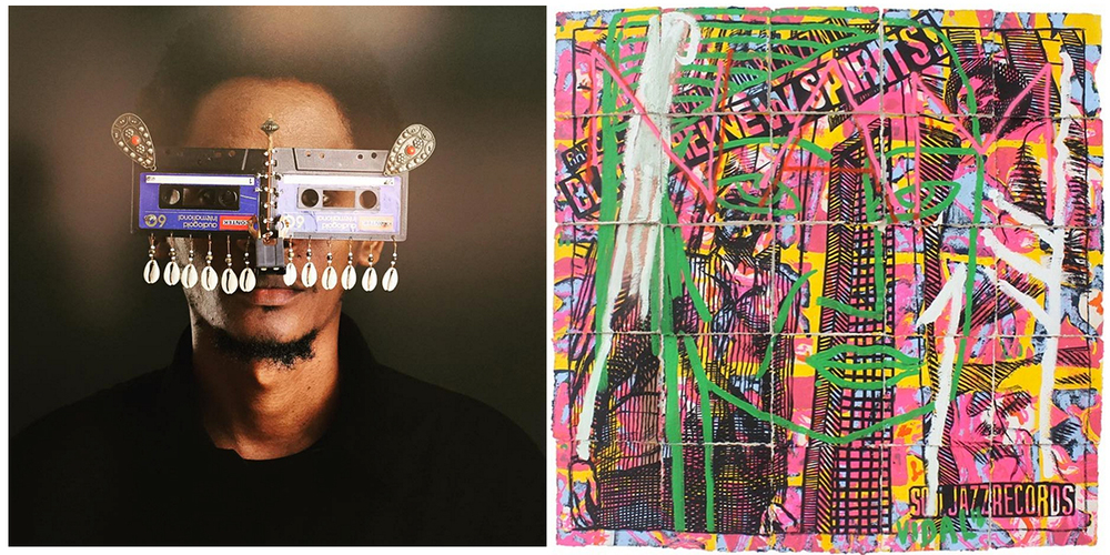 (L) Cyrus Kabiru at SCAM, (R) Francisco Vidal at Tiwani Contemporary