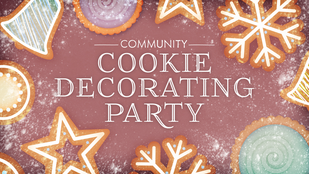 community christmas cookie decorating party