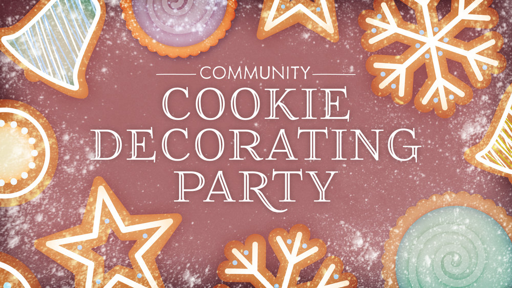 christmas cookie decorating party iron works church - Christmas Cookie Decorating Party