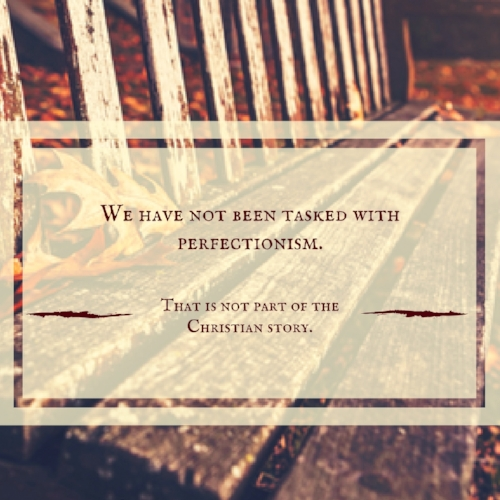 We have not been tasked with perfectionism. That is not part of the Christian story..jpg