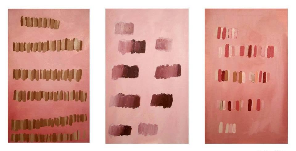 "2000, 2001,oil on canvas,28"" x 18"" ea.(KW Studio)"