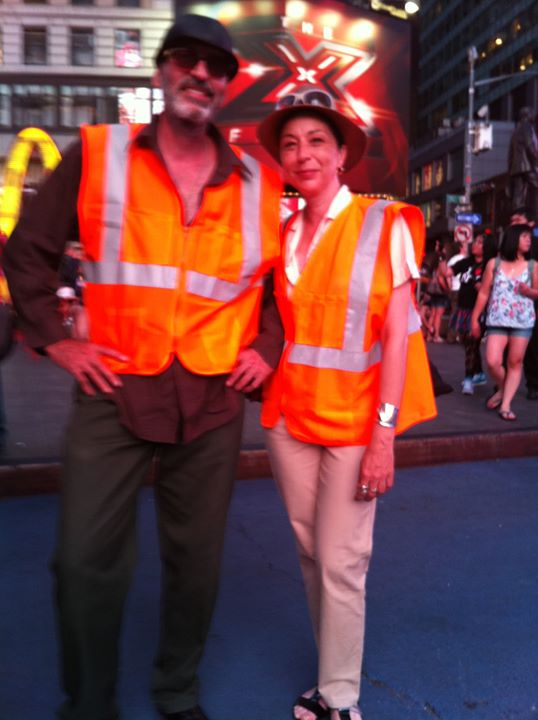photo by David Dalrymple  w/ Rafael,  Times Square, 2011