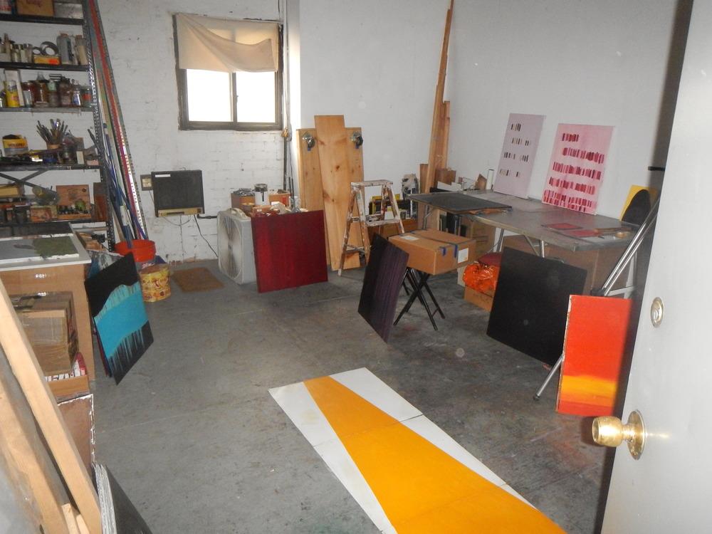 KW studio,  W. 25th St. NYC  July, 2014