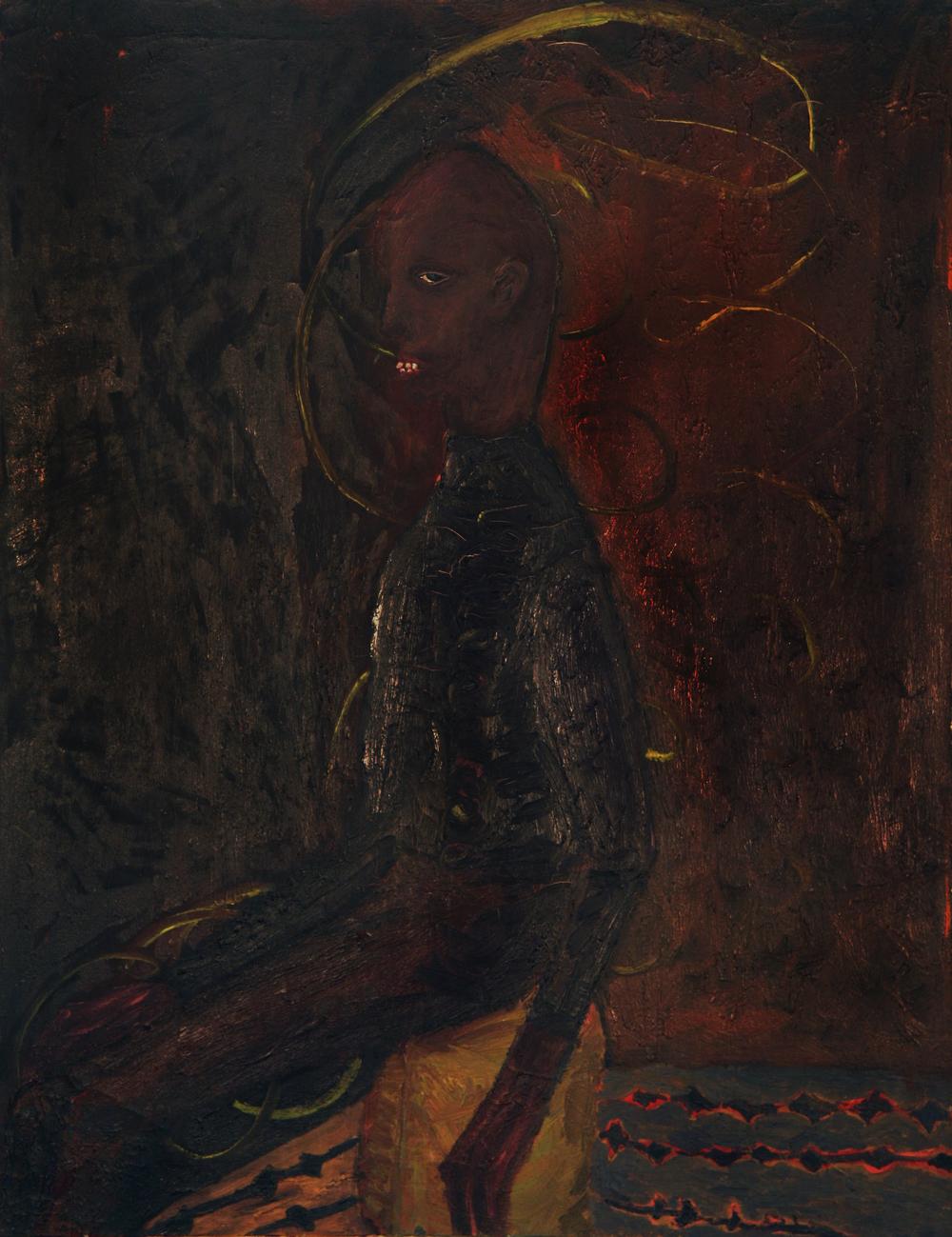 "My Friend , ca.1987–9, oil on canvas, 44"" x 34""."
