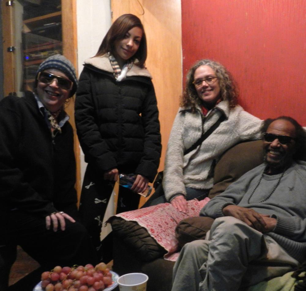 Kathleen, Shana Fletcher, Kate Valk, Steve Cannon  Tribes, E. 6th St. Nov. 2013