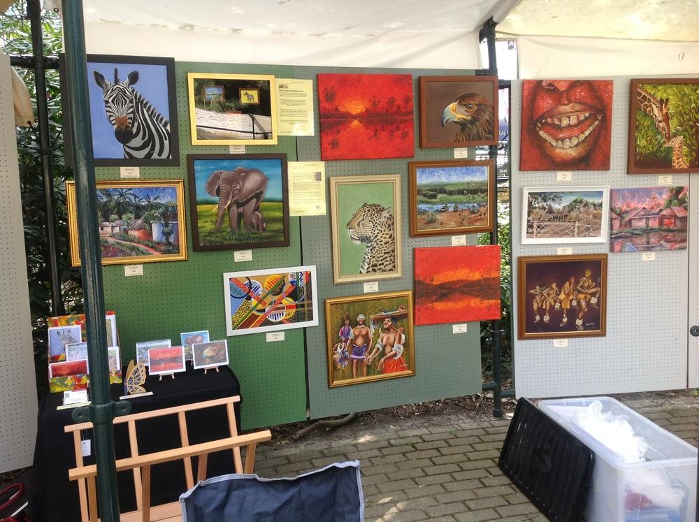 Nkolika's art at the Pinewalk Art Exhibition