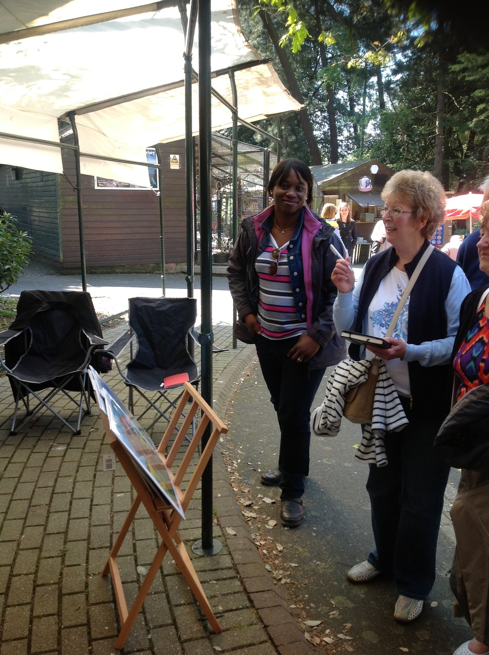 Nkolika with guests at the Pinewalk Art Exihibition