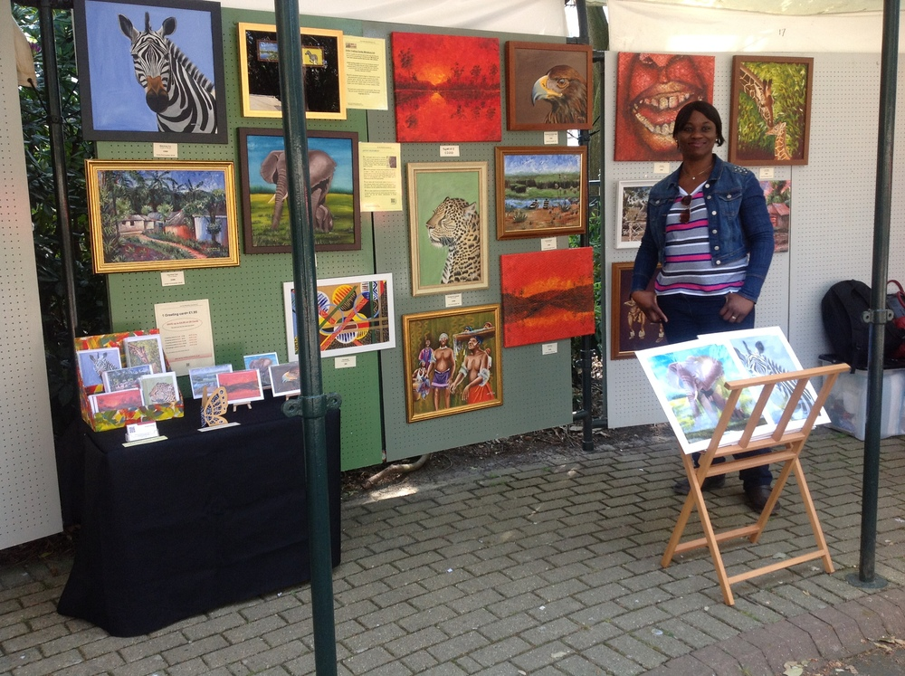 Nkolika at the Bournemouth Pinewalk Art exhibition 2013
