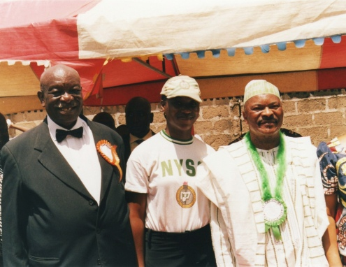 My Father and I with the State Governor during my Exhibition